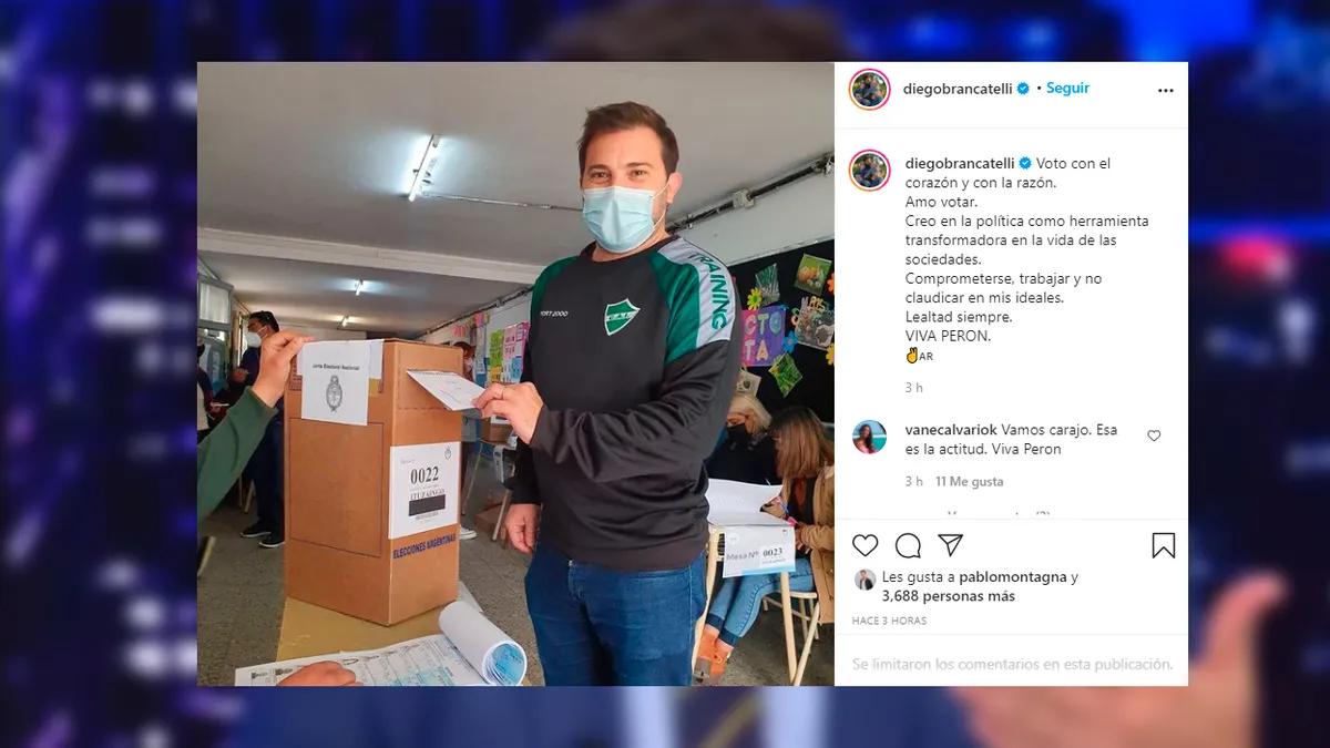 Paso 2021: la arenga de Diego Brancatelli después de votar