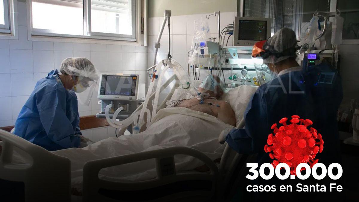 La provincia de Santa Fe superó este sábado los 300.000 casos de coronavirus.