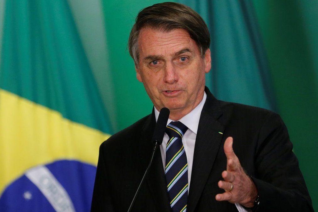 Bolsonaro sigue enviando mensajes a Argentina y tuiteó un video que muestra cómo creció la economía de Brasil