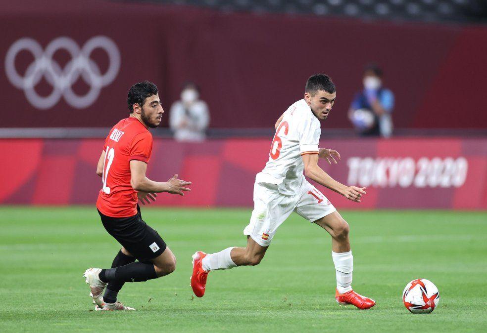 España y Egipto igualaron sin goles en su estreno en el Grupo C de los Juegos Olímpicos de Tokio 2020.