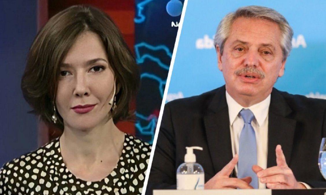 Cristina Pérez: Alberto Fernández es el presidente más débil que se recuerde desde el regreso de la democracia