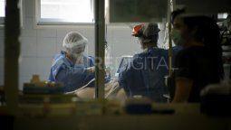 Terapia Covid del Hospital Cullen. Este miércoles, la provincia de Santa Fe superó los 100.000 contagios desde el inicio de la pandemia de coronavirus.
