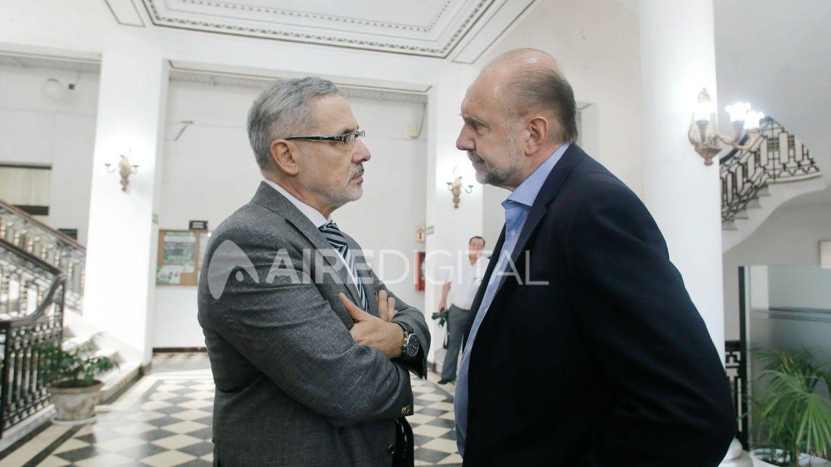 Otros tiempos, cuando Marcelo Sain era el ministro estrella del gabinete de Omar Perotti.