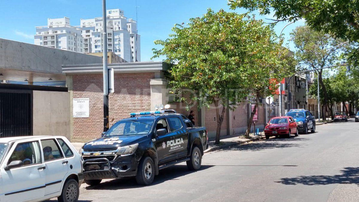 La persona herida en Barranquitas fue llevada de urgencia a la Guardia del Hospital Cullen.