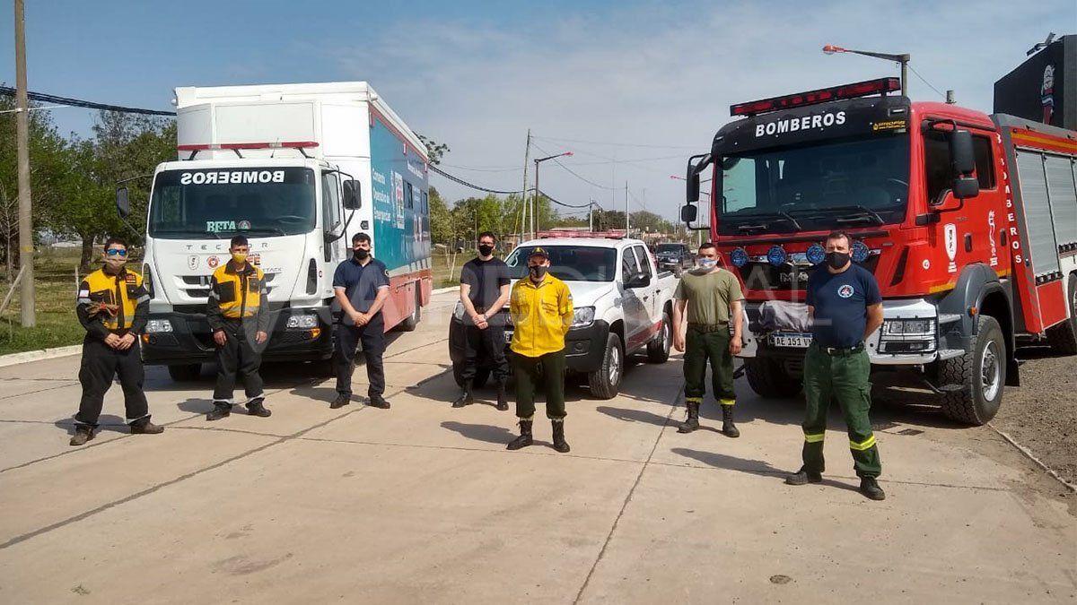 Son 26 los bomberos voluntarios de la provincia de Santa Fe que se sumaron al combate de los incendios en Córdoba.
