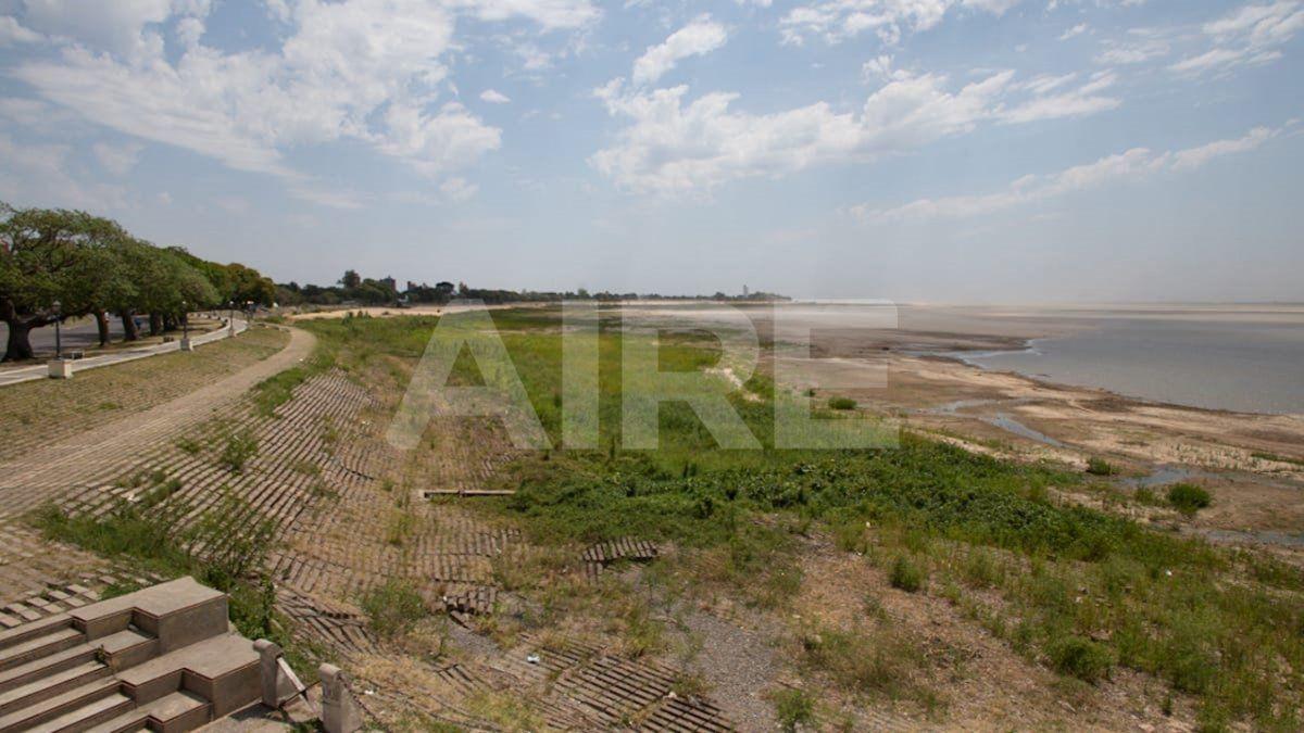 Con la bajante en la cuenca del Paraná