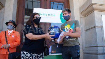 La Municipalidad de Santa Fe puso en funciones una oficina itinerante para concientizar a motociclistas