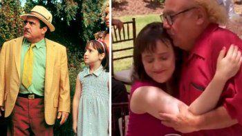 Danny DeVito se volvió el papá de Matilda en la vida real: la linda historia tras la película
