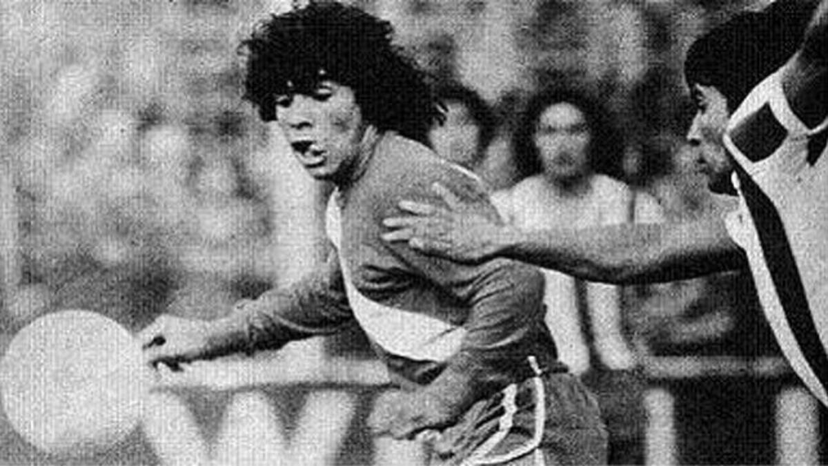Diego Maradona debutó en Primera División con la camiseta de Argentinos Juniors hace 44 años