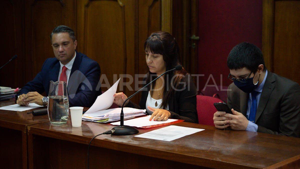 El abogado querellante, José Mohamad, y los fiscales Alejandra Del Río Ayala y Matías Broggi piden 15 años de prisión para el acusado