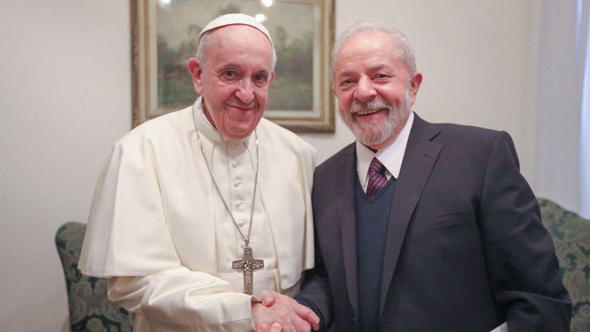 El pontífice y Lula se reunieron durante casi una hora en la residencia papal de Casa Santa Marta