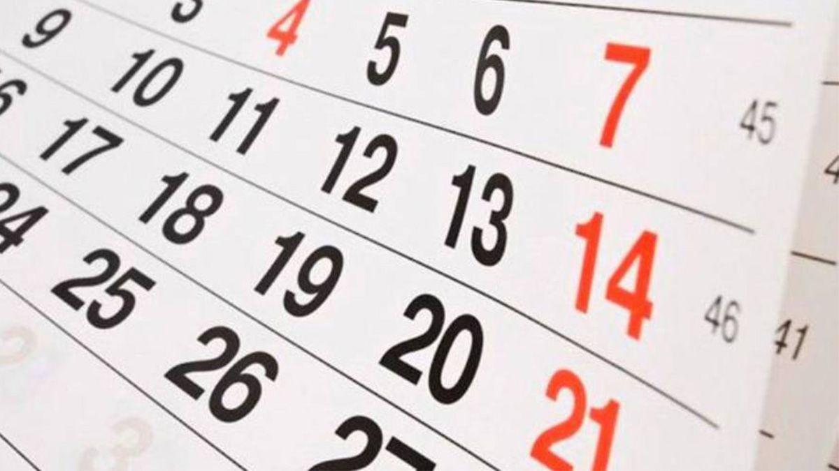 El próximo feriado será el 7 de diciembre.