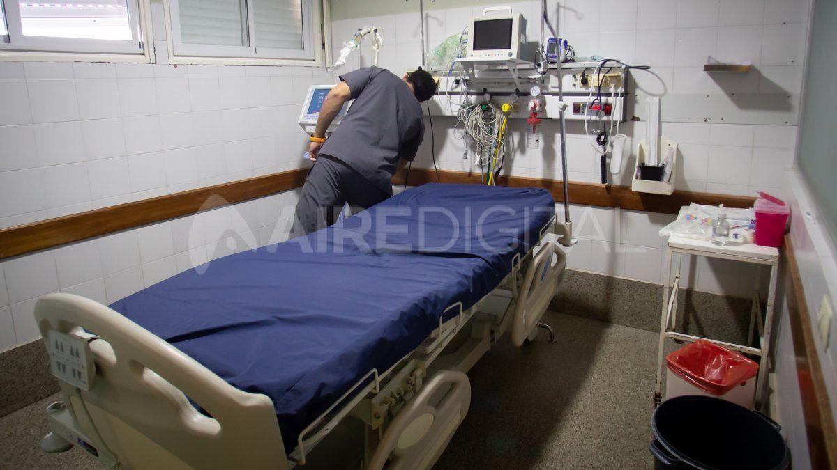 Área de terapia intensiva del Hospital Cullen.