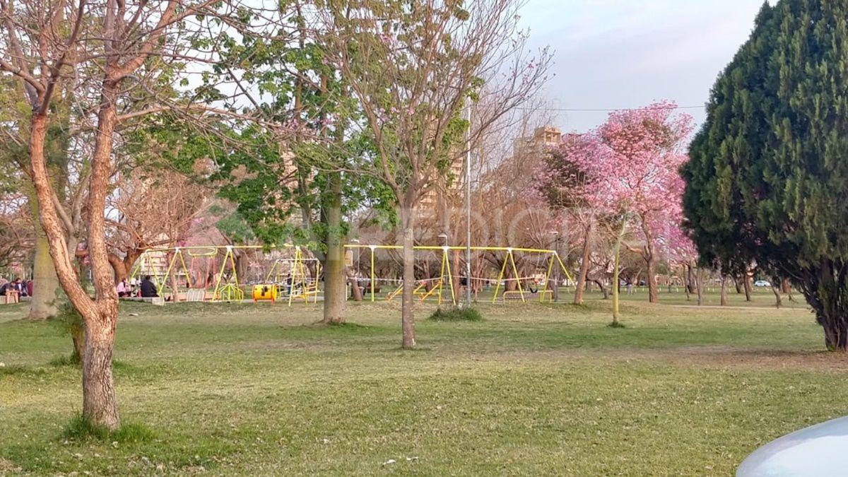 El parque federal estaba prácticamente vacio durante esta tarde.