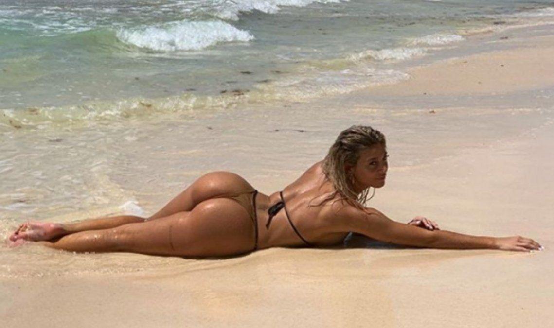 Sol Pérez incendió las redes con un video entrenando en bikini