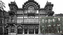 Desde la terraza delTeatro Coliseo, cuatro jóvenes conocidos como los locos de la azotea realizaron la primera transmisión de radio en Argentina.