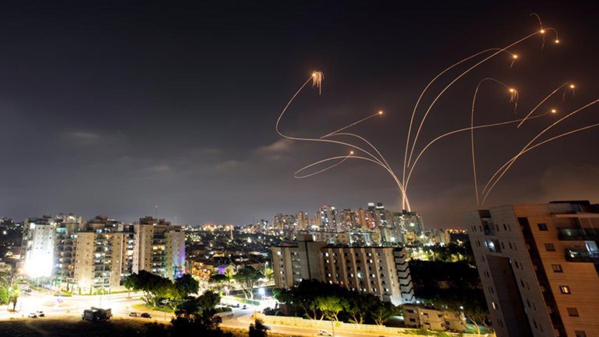 Israel interceptó más de 300 misiles que llegaron desde Gaza desde el lunes.
