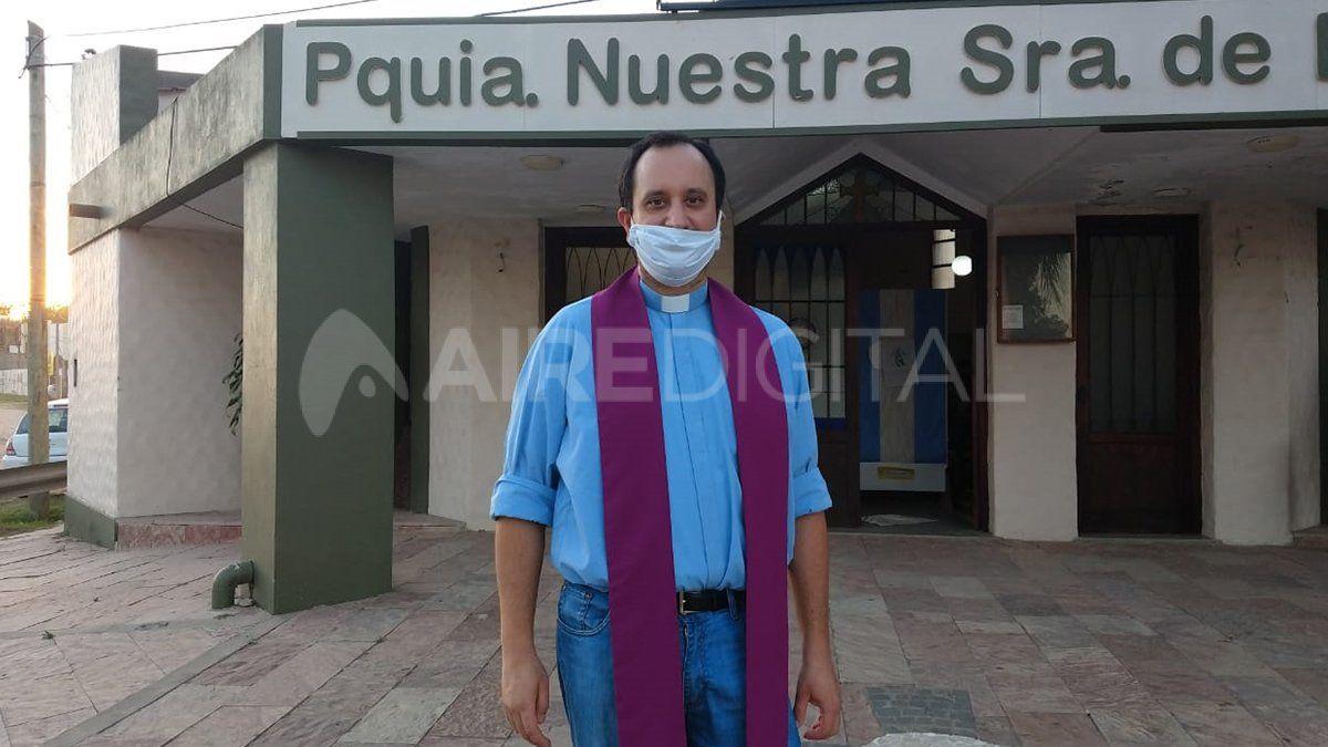 Le encontraron una fractura cervical al padre Matías Camussi.