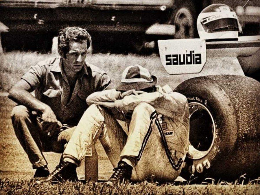 Carlos Reutemann y un claro gesto de frustración