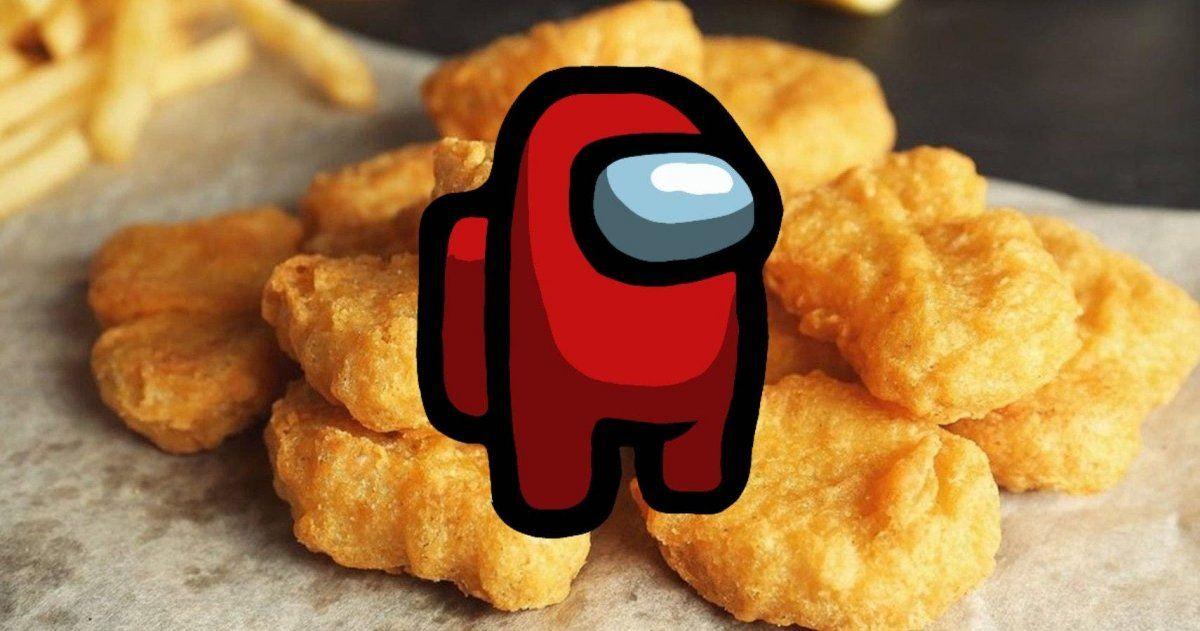 Un nuggets se volvió viral en las redes a partir de su similitud con el famoso juego en línea.