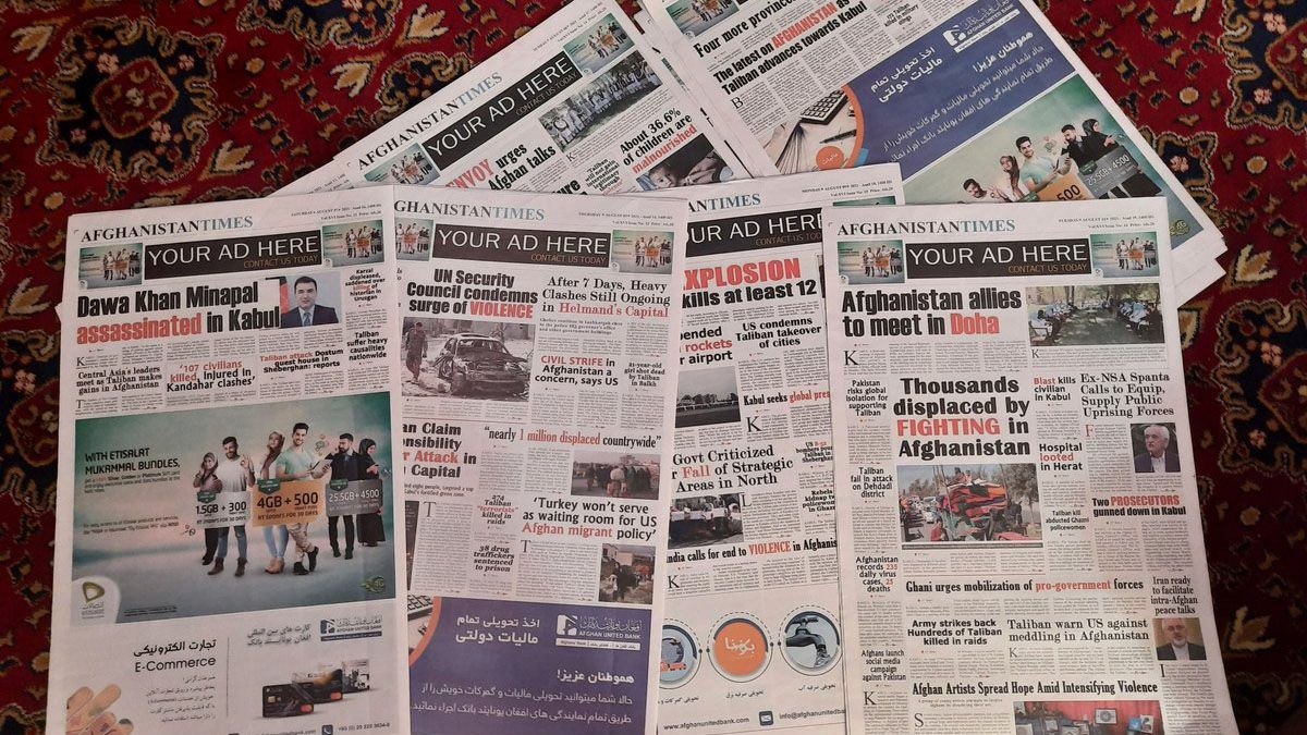 El famoso diario Afghanistan Times no se imprime hace un mes.