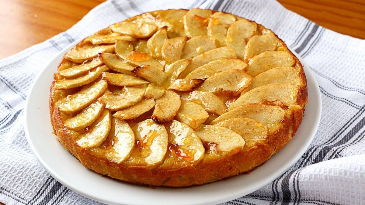 Tarta de manzanas en microondas.