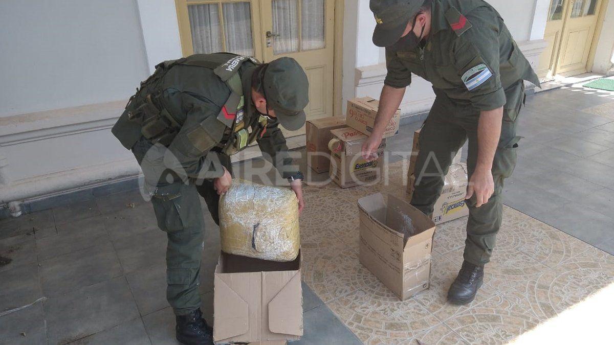 Secuestro. El material estupefaciente fue encontrado por personal de Gendarmería en un control sobre la ruta 11.