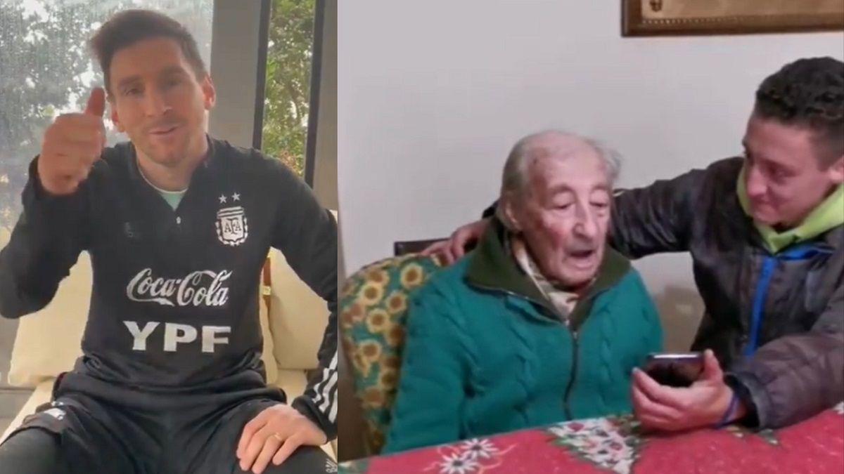 Hernán tiene 100 años y anota todos los goles de Messi en su cuaderno. El futbolista