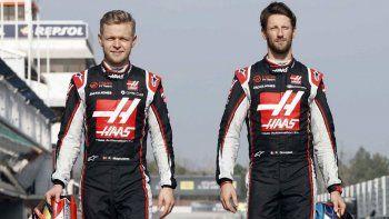 Fórmula 1: Grosjean y Magnussen no correrán más en Haas