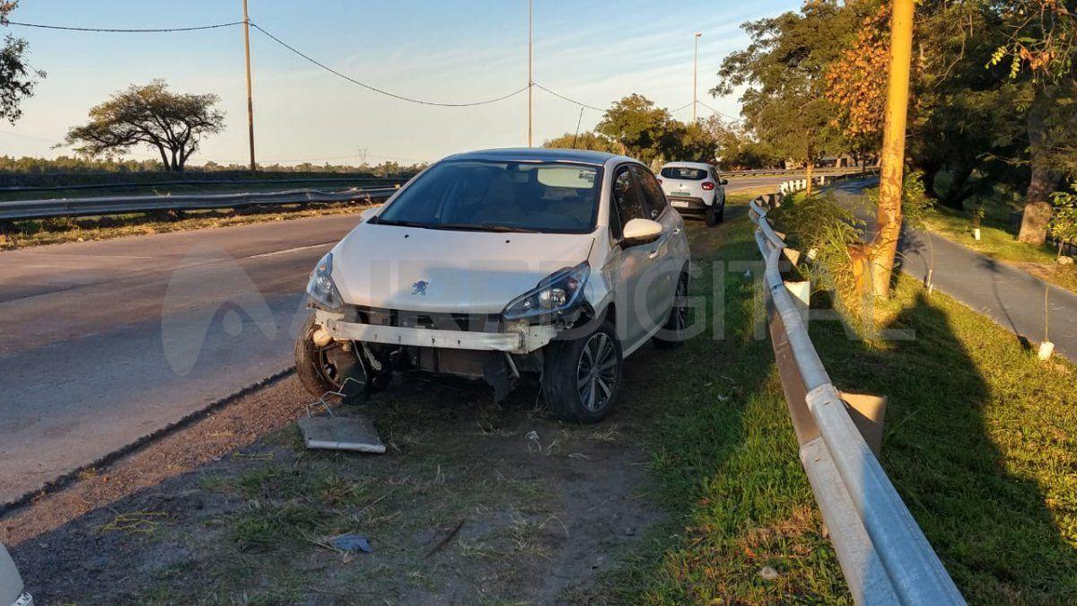Avenida de la Constitución: despistó un auto