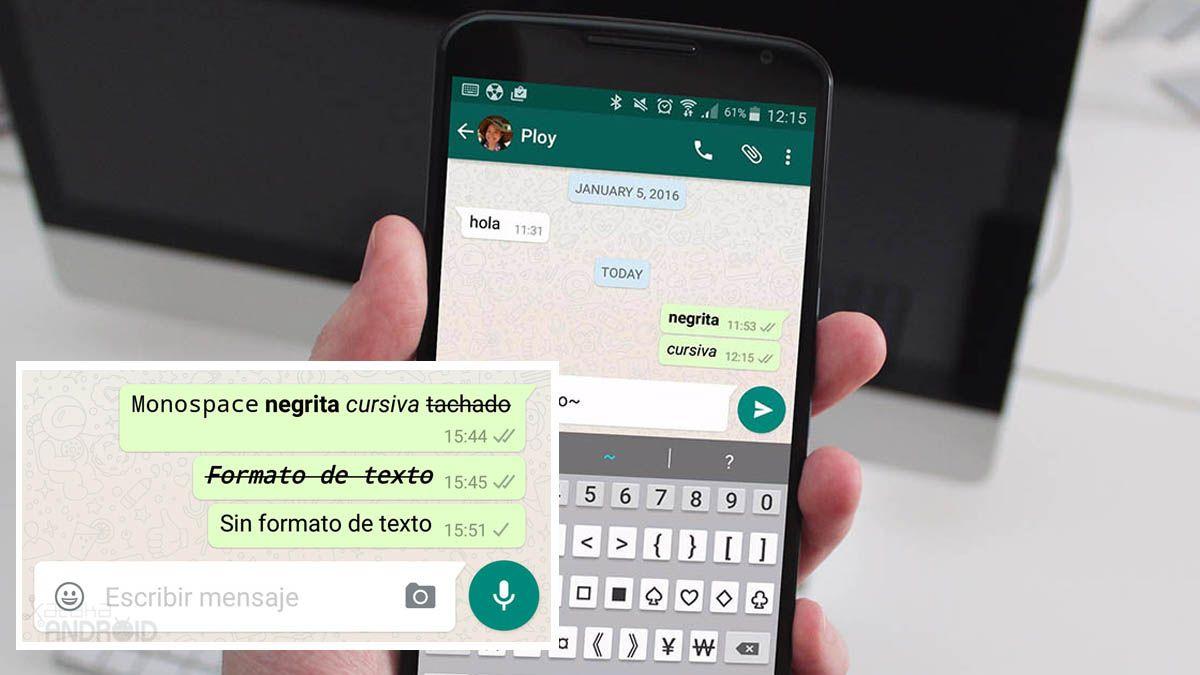 WhatsApp: cómo enviar mensajes en negrita