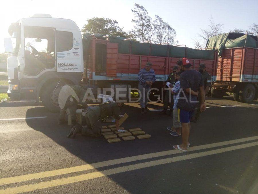 El camionero es oriundo de Malabrigo y fue interceptado en la localidad de Gato Colorado.