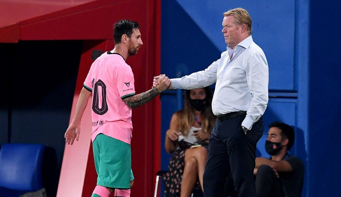 Ronald Koeman dejó afuera a Lionel Messi para la próxima fecha de la Champions League por considerar que no es necesario en este momento.