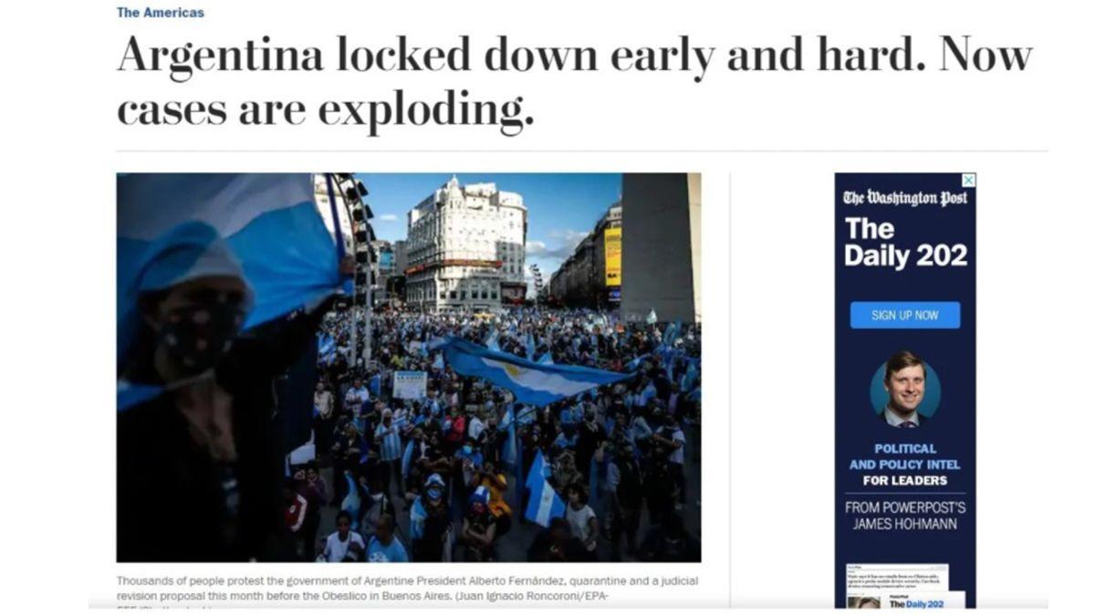 El Washington Post criticó la cuarentena argentina. Tanto sacrificio