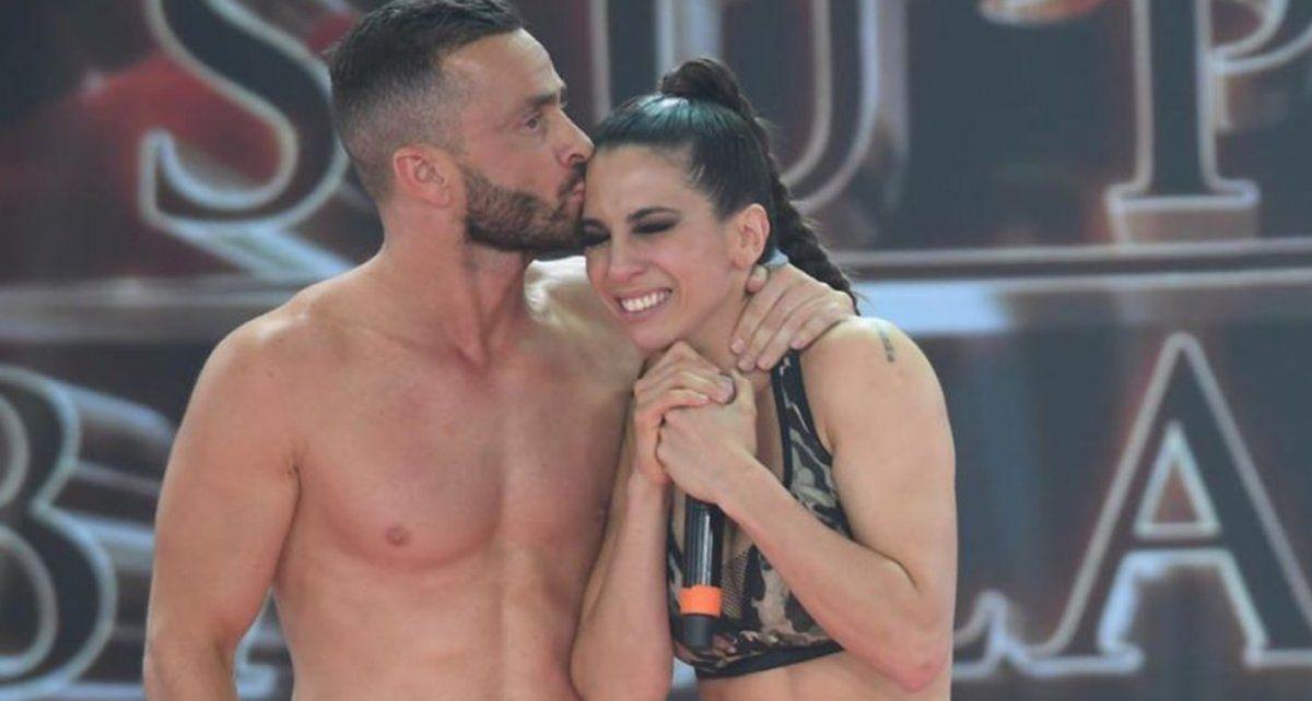 Cinthia y Martín cuando eran pareja en el Bailando 2019.