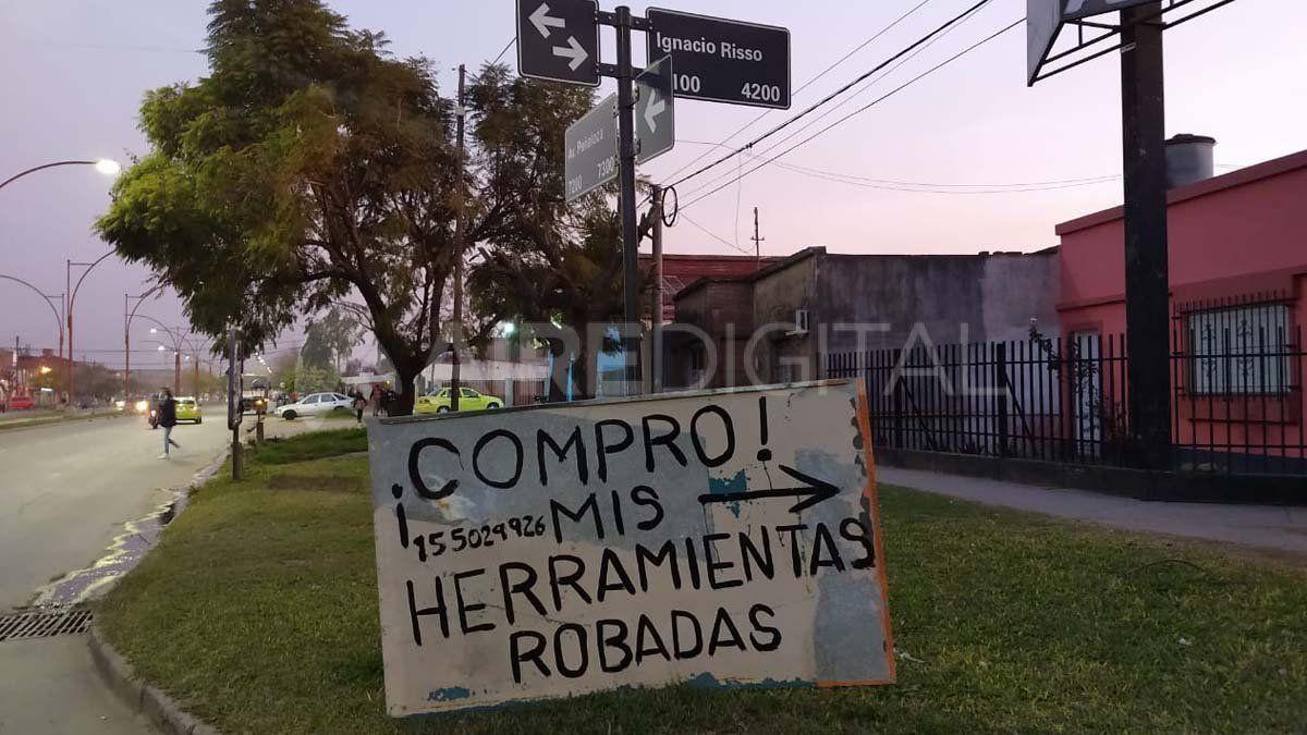 El taller mecánico está ubicado en inmediaciones de las calles Ignacio Risso y Av. Peñaloza.