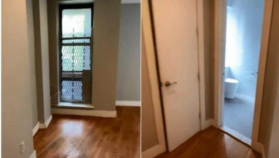 Video viral muestra el extraño departamento que hay en Nueva York.