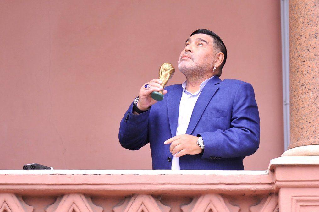 La última vez que Maradona se encontró con Alberto Fernández fue el 26 de diciembre de 2019 en la Casa Rosada.