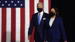 El candidato demócrata a la presidencia de Estados Unidos, Joe Biden, y su compañera de fórmula, Kamala Harris, compartieron el primer acto juntos este miércoles.
