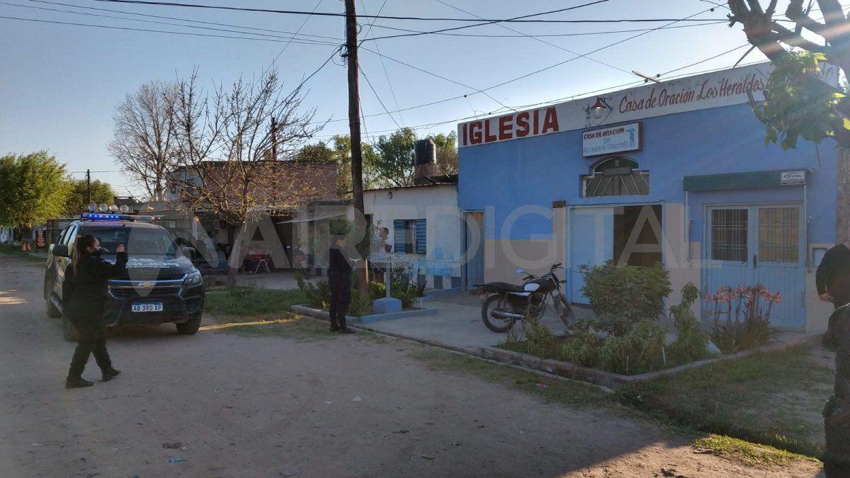 El enfrentamiento a tiros se dio frente a una peluquería que se encuentra junto a una iglesia de barrio La Ranita.