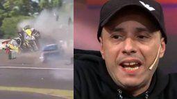El Dipy, ahora devenido en piloto del Top Race, protagonizó un impresionante accidente en el circuito de Paraná que le valió la expulsión de la carrera por parte de los comisarios.