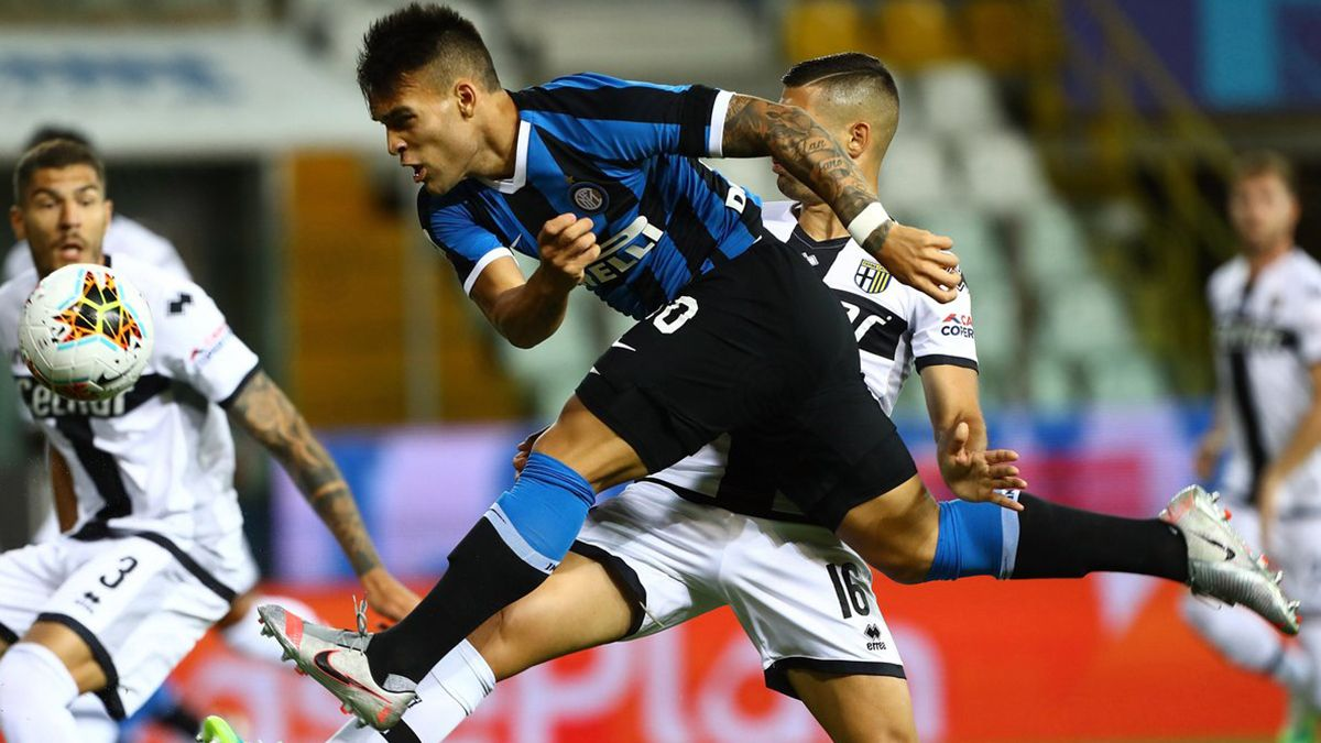 Lautaro Martínez jugó pero no marcó en la victoria 2-1 del Inter sobre el Parma.