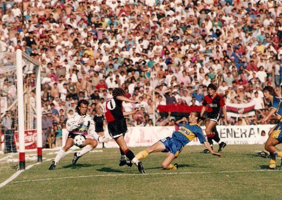Partido entre Newell´s y Boca en el Apertura 1991.