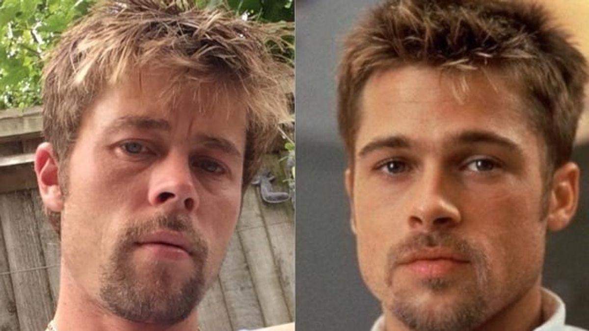 Brad Pitt: la historia del albañil que no puede caminar por la calle por su parecido con el actor