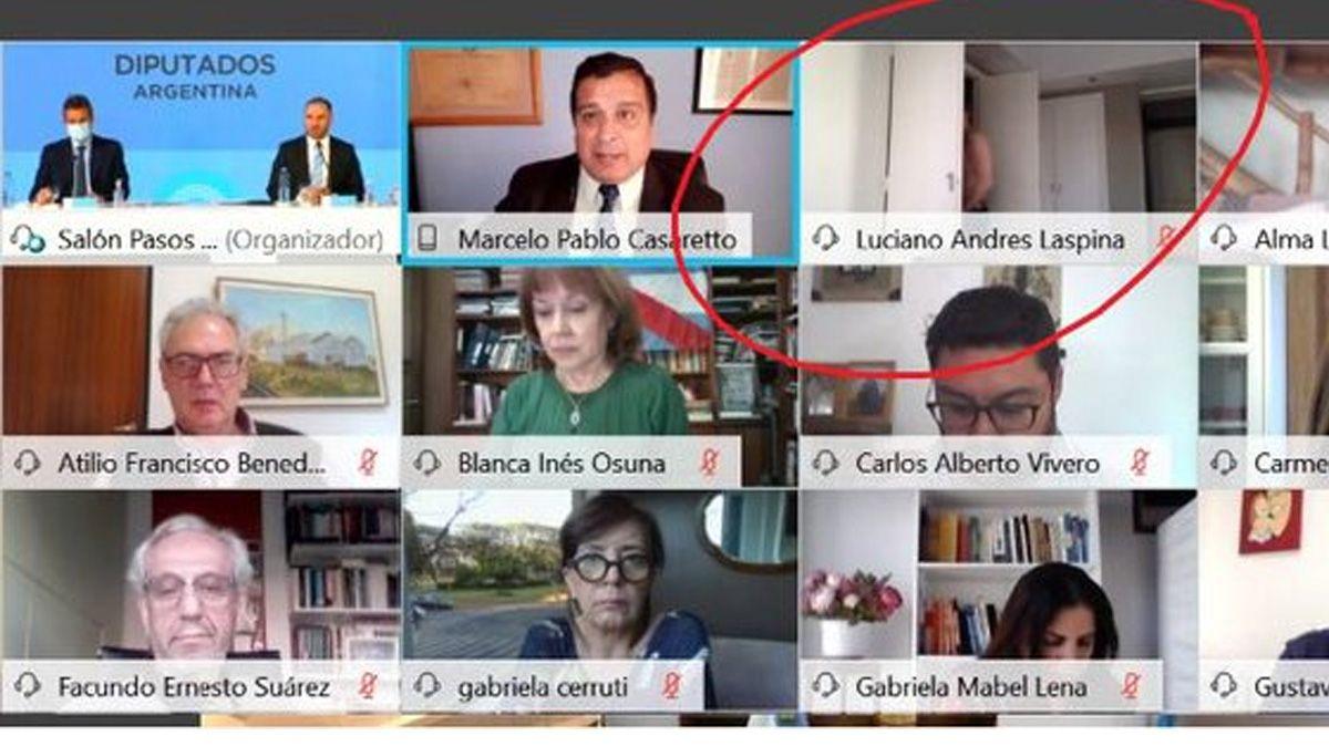 Un diputado santafesino se cambió de ropa frente a la cámara durante la presentación de Guzmán por el Presupuesto