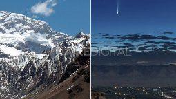 Al igual que las grandes montañas, un cometa puede tener 5 kilómetros o más, y se componen de lo mismo, gases, rocas, nieve y otras sustancias.