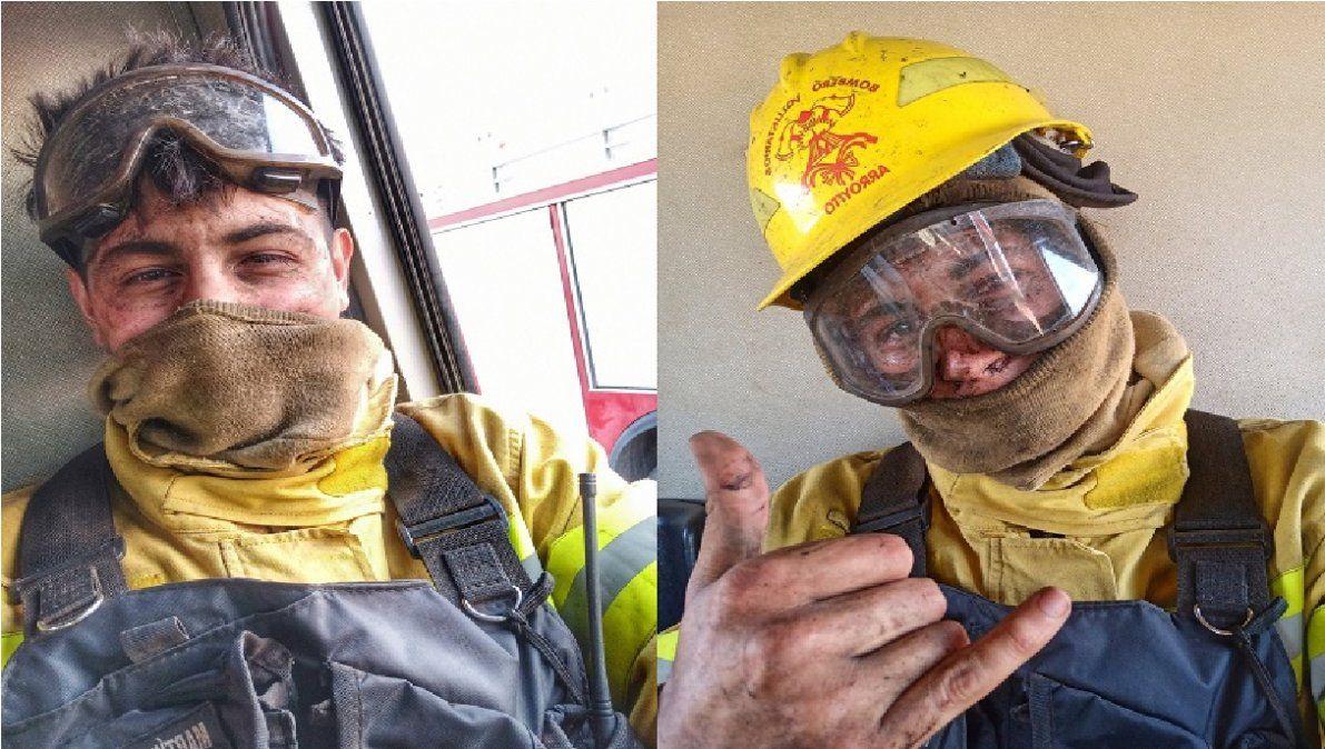 Dramático testimonio de un bombero cordobés rodeado por el fuego: No era mi hora