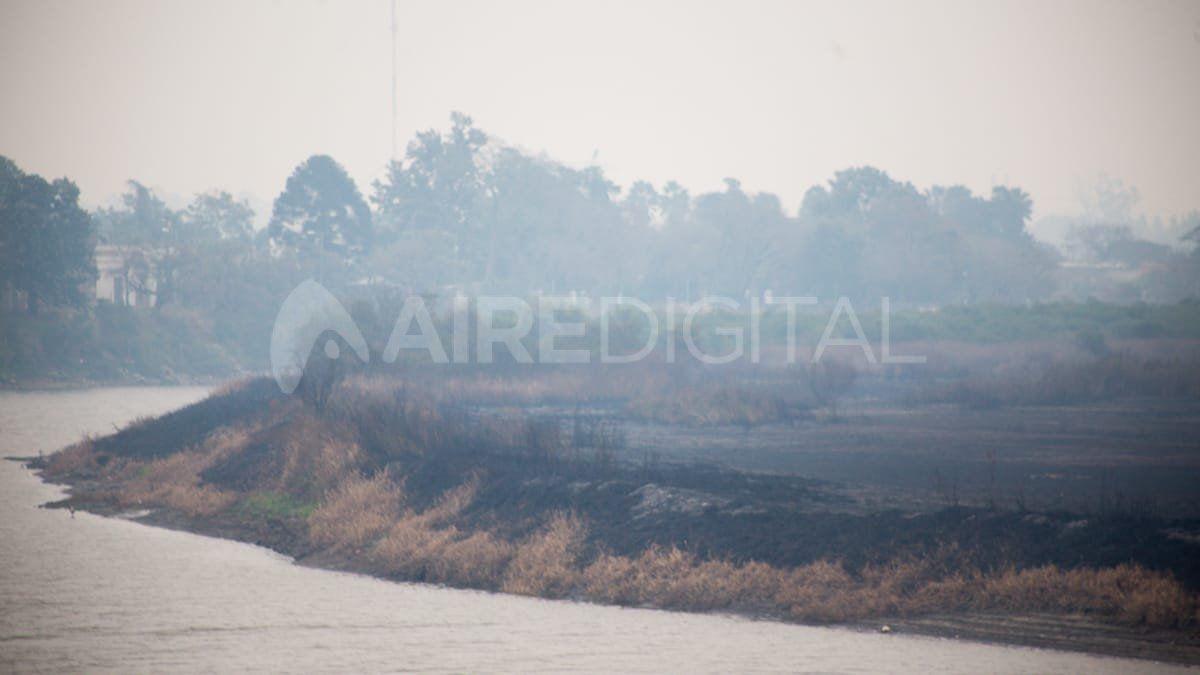 El día después de los incendios: humo
