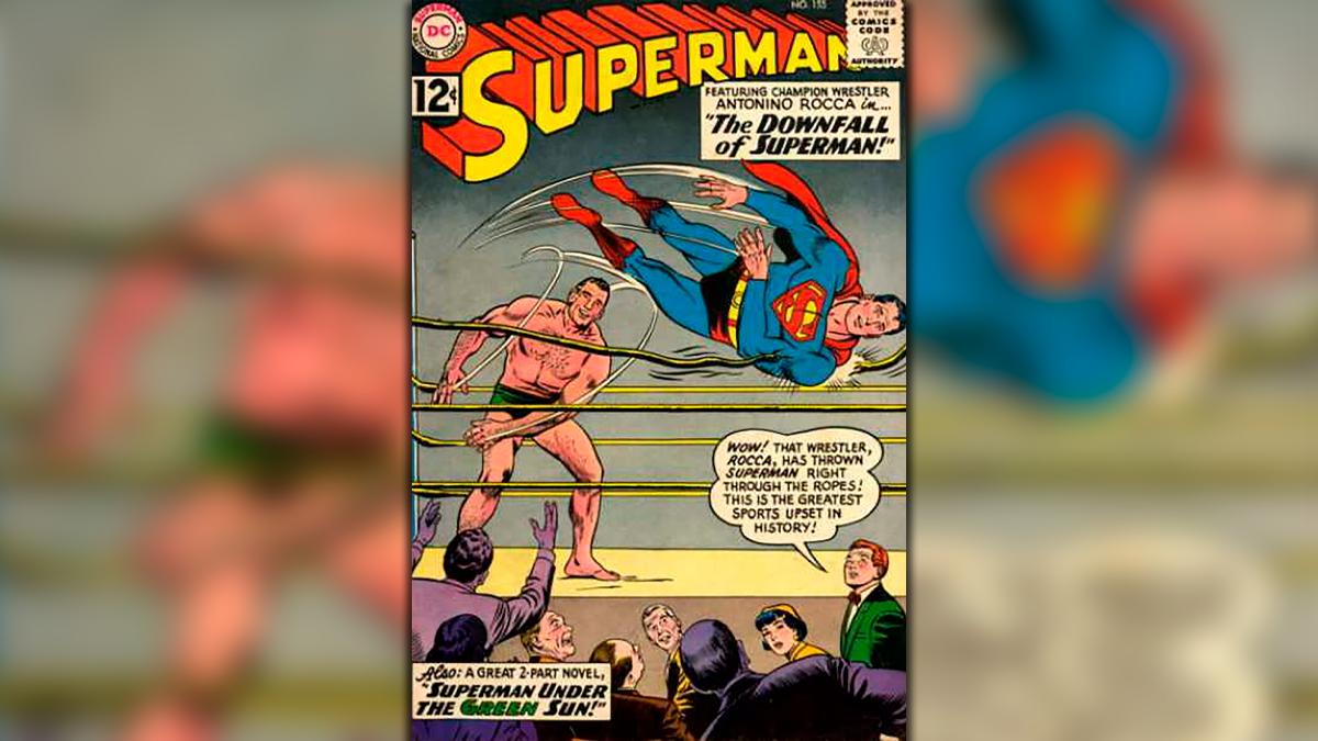 Antonio Rocca se transformó en el primer y único argentino en enfrentarse a Superman en el año 1962.
