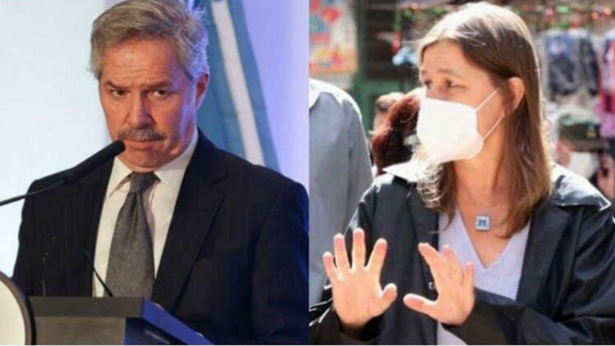 Felipe Solá y Sabina Frederic